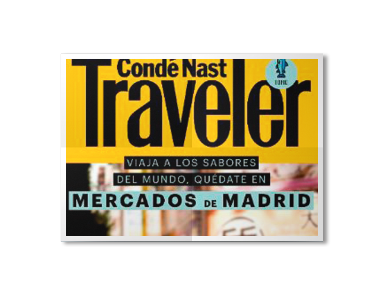 Condé Nast Traveler, en una exposición urbana en el centro de Madrid.